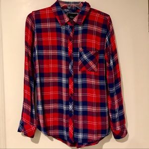 EUC Rails Red/Blue Plaid Shirt